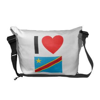 i love democratic republic of the congo messenger bag