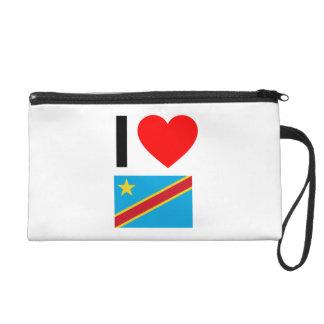 i love democratic republic of the congo wristlet clutch