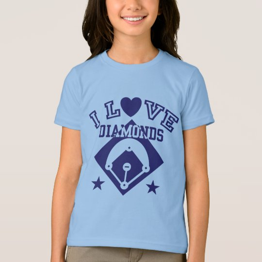 I Love Diamonds Baseball T-Shirt