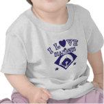 I Love Diamonds Baseball Tshirt