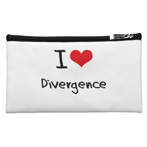 I Love Divergence Makeup Bags