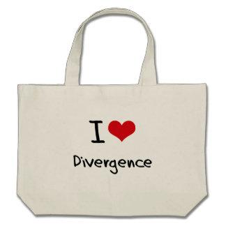 I Love Divergence Tote Bag