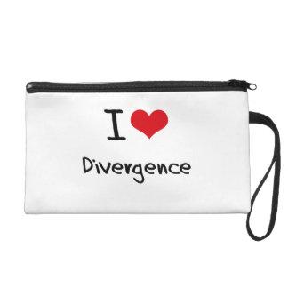 I Love Divergence Wristlet Purse