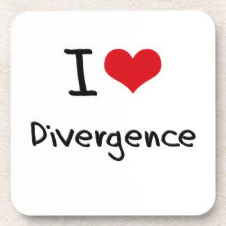 I Love Divergence Coasters
