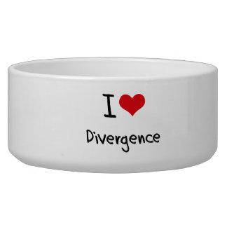 I Love Divergence Dog Food Bowl