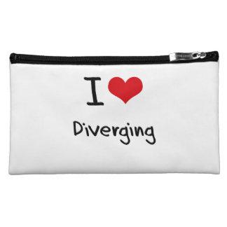 I Love Diverging Cosmetics Bags