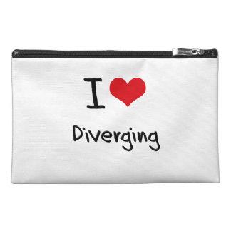 I Love Diverging Travel Accessories Bag