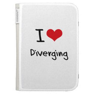 I Love Diverging Kindle Folio Case