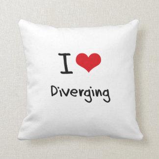 I Love Diverging Throw Pillow