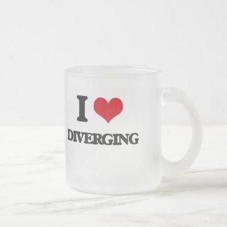 I love Diverging Frosted Glass Mug