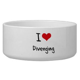 I Love Diverging Dog Food Bowl