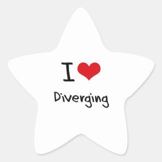 I Love Diverging Star Sticker