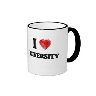 I love Diversity Ringer Mug