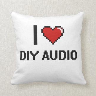 I Love Diy Audio Digital Retro Design Throw Cushions