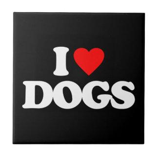 I LOVE DOGS CERAMIC TILES