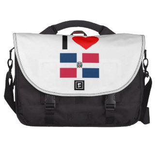 i love dominican republic laptop messenger bag