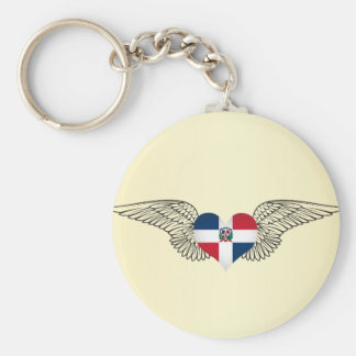 I Love Dominican Republic -wings Key Ring