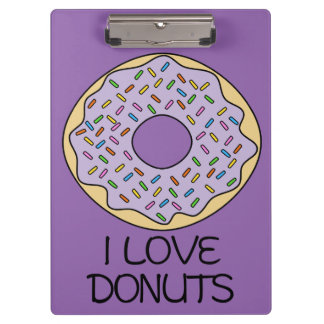 I Love Donuts Clipboard