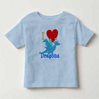 I Love Dragons Blue Dragon Cartoon Toddler T-Shirt