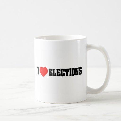 I Love Elections Mugs