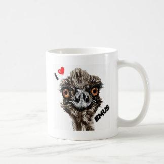I LOVE EMUS COFFEE MUG