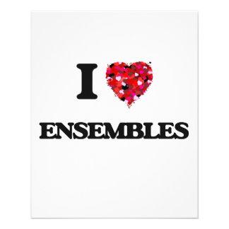 I love ENSEMBLES 11.5 Cm X 14 Cm Flyer