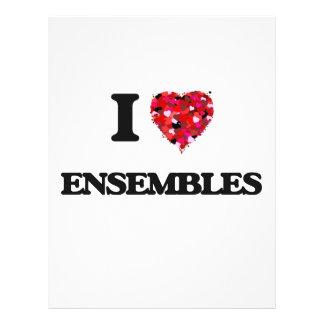 I love ENSEMBLES 21.5 Cm X 28 Cm Flyer