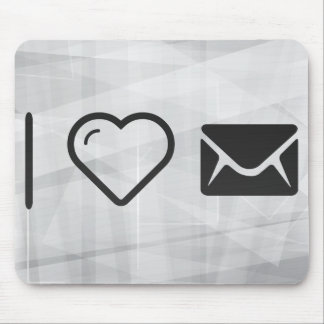 I Love Envelope Casings Mouse Pad