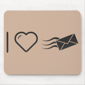 I Love Envelope Express Mouse Pad