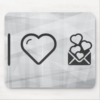 I Love Envelope Lovers Mouse Pad