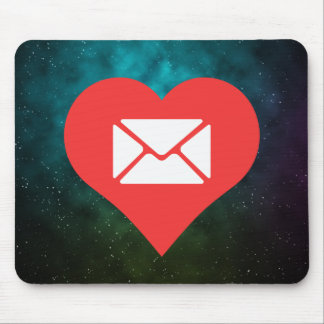 I Love Envelopes Cool Icon Mouse Pad