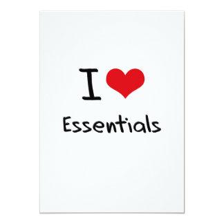 I love Essentials 13 Cm X 18 Cm Invitation Card