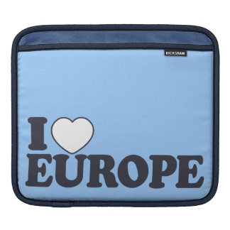 I LOVE EUROPE custom laptop / iPad sleeve