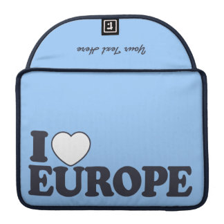 I LOVE EUROPE custom MacBook sleeve