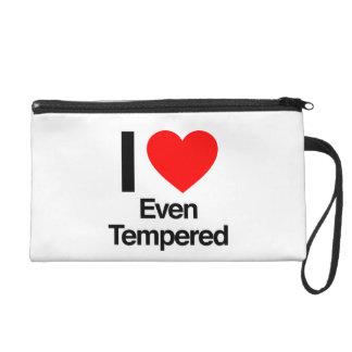 i love even tempered wristlet clutch