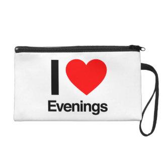 i love evenings wristlet purse