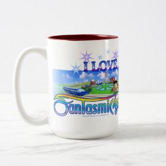 I Love FantasmicWorld (Theme Park) Two-Tone Mug