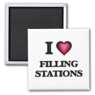 I love Filling Stations Magnet