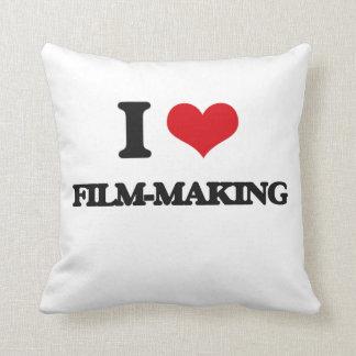 I Love Film-Making Throw Pillow