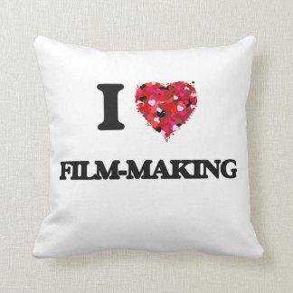 I Love Film-Making Throw Cushions