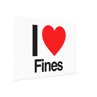 i love fines stretched canvas print