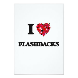 I Love Flashbacks 9 Cm X 13 Cm Invitation Card