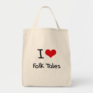 I Love Folk Tales Canvas Bag