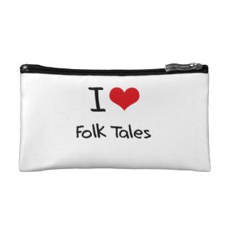 I Love Folk Tales Makeup Bag
