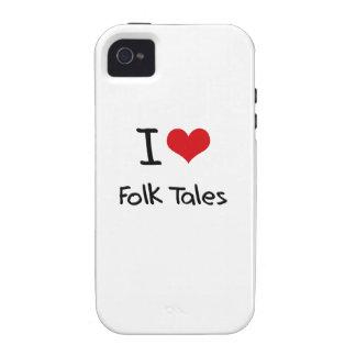 I Love Folk Tales Case-Mate iPhone 4 Case