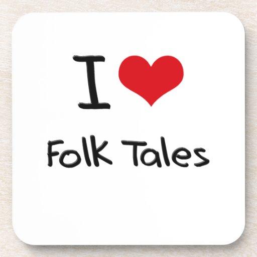 I Love Folk Tales Beverage Coaster