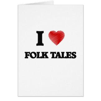 I love Folk Tales Greeting Card