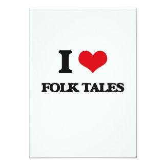 """i LOVE fOLK tALES 5"""" X 7"""" Invitation Card"""