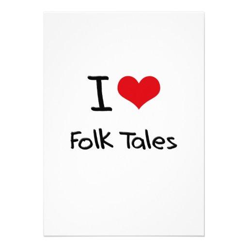 I Love Folk Tales Custom Invites