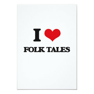 """i LOVE fOLK tALES 3.5"""" X 5"""" Invitation Card"""